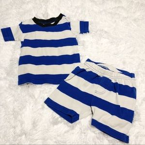 Mini Boden Striped shorts and top set size 2